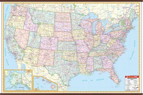 interstate wall map kappa map group