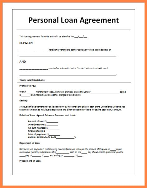 sample loan agreement letter  friends purchase
