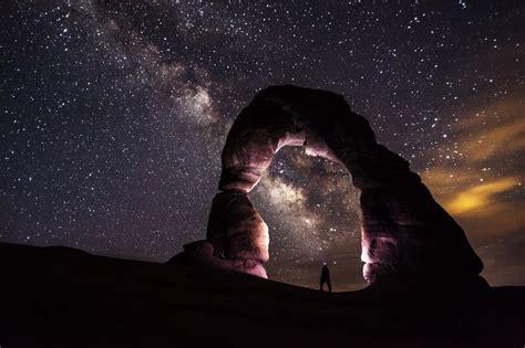 Free Images Landscape Nature Rock Person Light Sky