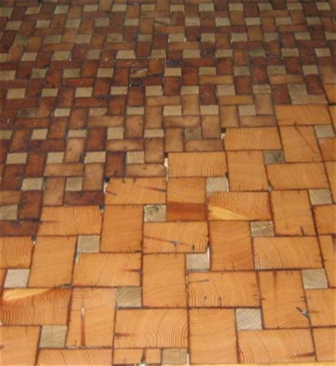 end grain cobble block wood tile flooring hometalk