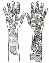 Coloring Henna Hands Mehndi Desenhos Tattoos Kleurplaten Disegni Arabic Colorare Tattoo Arabes Arabe Volwassenen Tatuaggi Adult Colorir Mehendi Wereld Arabische sketch template
