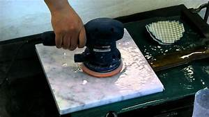 marble polishing by orbital sander youtube With can you sand a floor with a hand sander