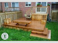 Deck Plan #2ROW7002 DIY Deck Plans