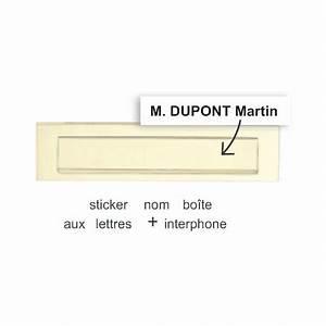 Etiquette Pour Boite Aux Lettres : sticker noms pour boite aux lettres etiquette autocollant ~ Dailycaller-alerts.com Idées de Décoration