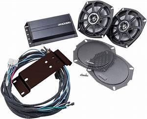 Kicker 5 25 U0026quot  Front Fairing Speaker  U0026 Amp Kit 98