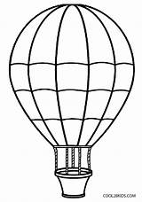 Balloon Air Coloring Printable Cool2bkids sketch template
