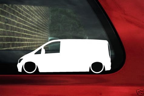 mercedes vito van  outline silhouette stickers