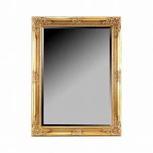 Miroir Doré Rectangulaire : miroir mural en resine dore 80x62 cm achat vente miroir r sine cdiscount ~ Teatrodelosmanantiales.com Idées de Décoration