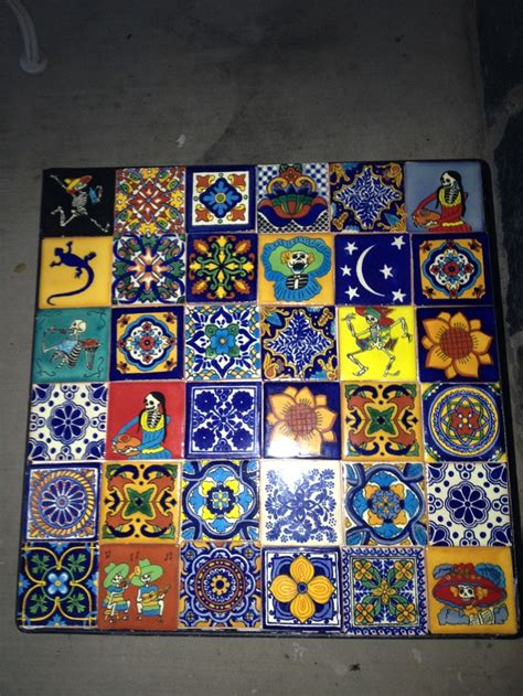 mexican tile coffee table 25 best tile top coffee table images on pinterest