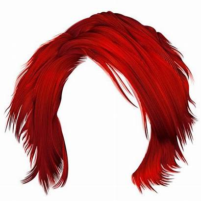 Wig Realistic Woman Illustrations Clip Vector Disheveled