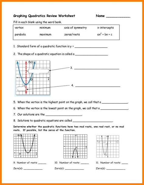 math worksheets graphing nonlinear equations math best
