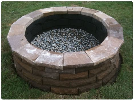 Fire Pits : Cement Paver Fire Pit