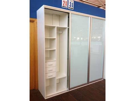 White Freestanding Wardrobe by Wardrobe With White Frosted Glass Sliding Doors 3 Door
