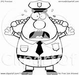 Police Coloring Cartoon Clipart Panicing Chubby Vector Wvu Outlined Cory Thoman Mountaineers Clip Template Sketch sketch template