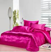 Pink Bedroom Set by Hot Pink Silk Luxury Comforter Bedding Sets For King Size Queen Full Twin Duv