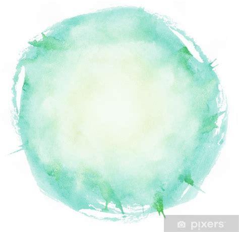 vinilo pixerstick pinceladas de acuarela brillante circulo