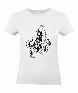 Signification Animaux Tatouage : t shirt femme tattoo tribal loup hurlement tatouage animaux graphique design t shirt ~ Dode.kayakingforconservation.com Idées de Décoration