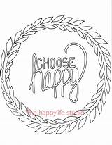 Coloring Pages Adults Simple Adult Happy Positive Choose Easy Printable Colouring Sheets Words Books Quotes Printables Drawing Quote Affirmation Animal sketch template