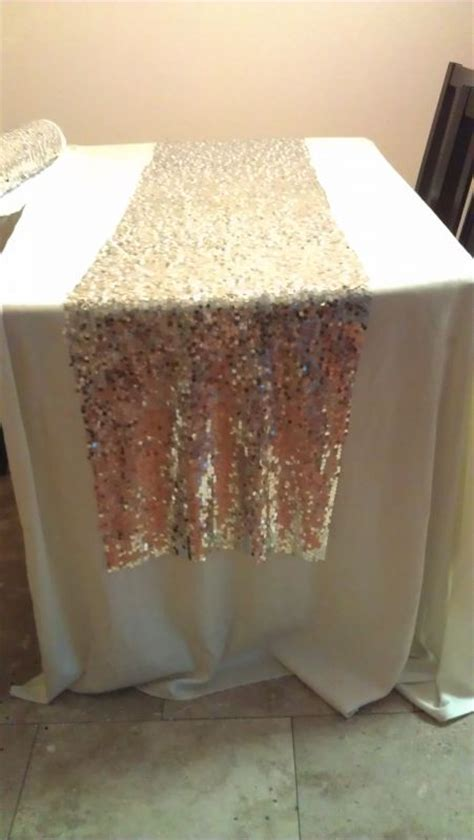 how long should a table runner be diy sequin runners save tying the knot pinterest