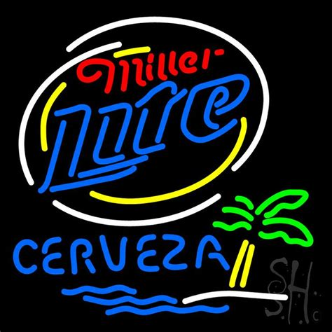 what were beer neon colors in the 50s and 60s miller lite cerveza bar neon sign 24 x 24 wide x 3 is 100 handcrafted with real