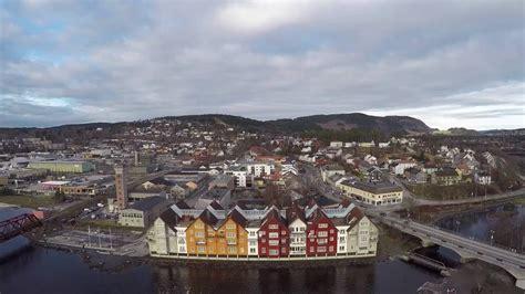 aeriel drone video  norway steinkjer youtube