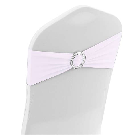 white spandex chair band with buckle 10pcs event