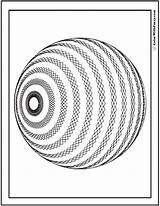 Coloring Geometric Pages 3d Sphere Pattern Diamond Print Detailed Vector Graphic Mathematical Editable Software Should Create Customize Striped Patterned Colorwithfuzzy sketch template