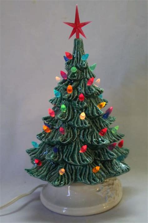 table top christmas trees with lights retro ceramic christmas tree lighted electric tabletop