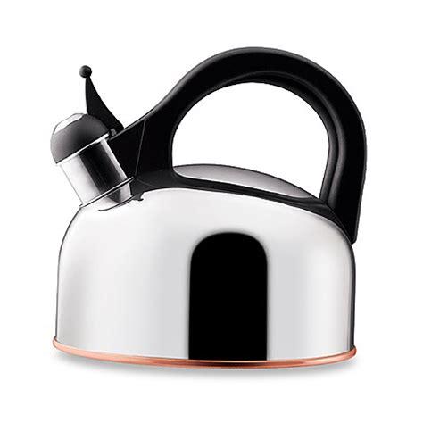 paula deen stainless steel  quart tea kettle bed bath