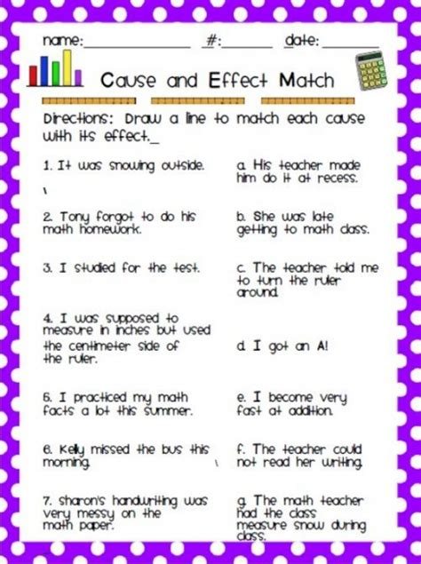 12 easy cause and effect activities and worksheets teach