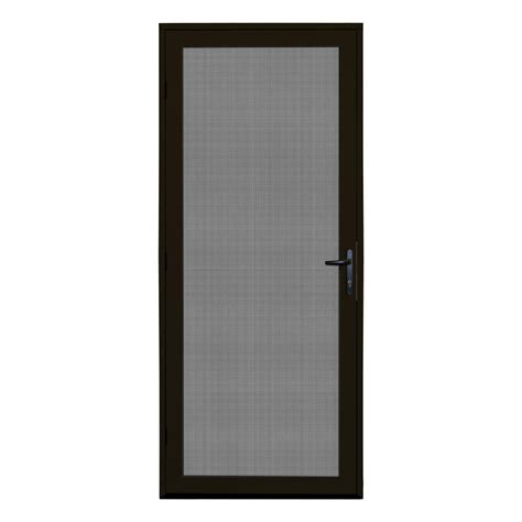bronze screen door unique home designs 32 in x 80 in bronze surface mount
