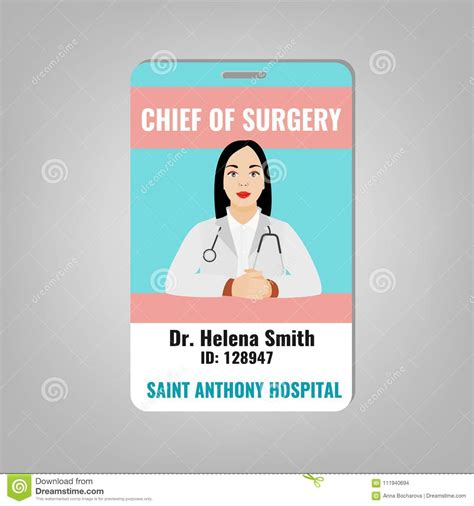 doctor id card stock vector illustration  doctor