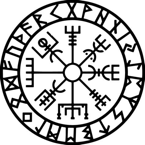 nordischer kompass bedeutung vegvisir the symbol of guidance and protection its
