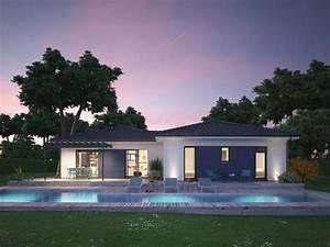 149 best maison de plain pied images on pinterest With modele de maison a construire
