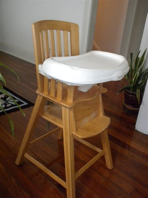 eddie bauer wood highchair sturdy wood high chair from