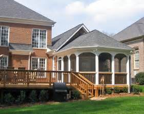Octagonal Screen Porch Large Deck Mint Hill Screened Porch Photo Gallery Archadeck Modern Shed Roof Screened Porch Plans