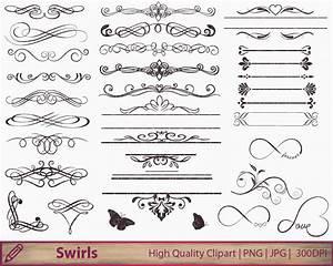 wedding invitation swirls clipart flourish clip art With diy wedding invitations graphics