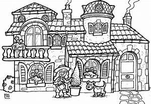 maison coloriages autres With toit de maison dessin