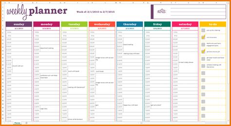 Meal Planner Template Weekly Meal Planner Template Excel Weekly Planner Template
