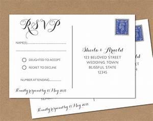 postcard rsvp card wedding rsvp postcard byron any With wedding invitation rsvp postcard wording