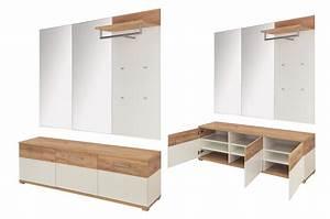 Meuble Entree Blanc : meuble d 39 entr e pas cher blanc et ch ne navarra ~ Teatrodelosmanantiales.com Idées de Décoration