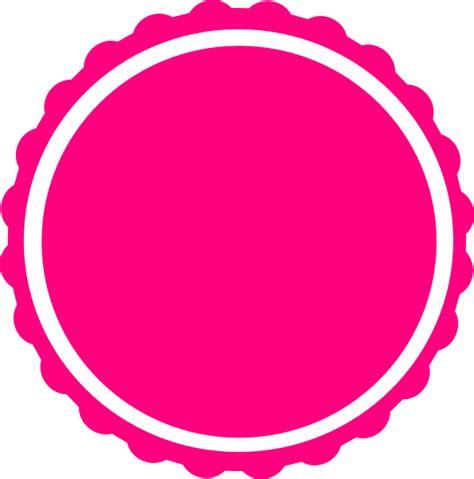 teal scallop circle frame clip art  clkercom vector