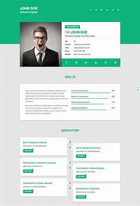 15 best html resume templates for awesome personal sites for Real free resume sites