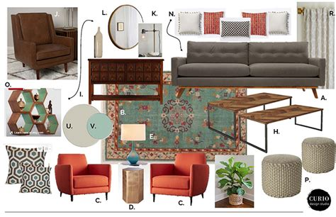 ECLECTIC + MIDCENTURY LIVING ROOM