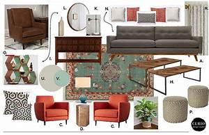 ECLECTIC MIDCENTURY LIVING ROOM Curio Design Studio