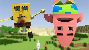 """Spongebob in Minecraft 2"" - Animation - YouTube  Spongebob"