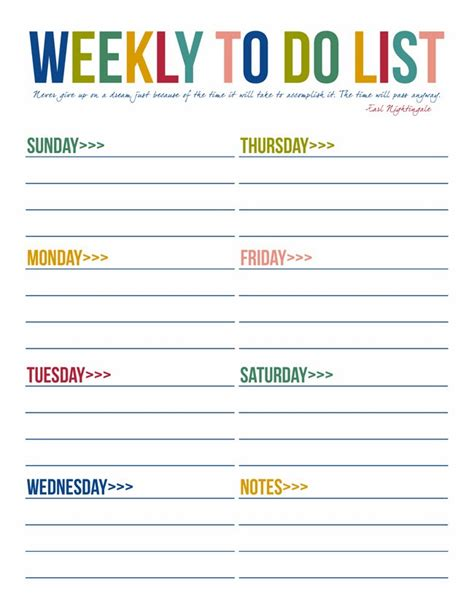 weekly to do list template 40 printable to do list templates baby