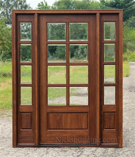 entry door with window exterior doors with sidelights solid mahogany entry doors
