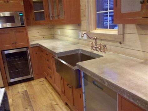 Cast In Place Concrete Countertop by Cast N Place Concrete Countertops Traditional Kitchen