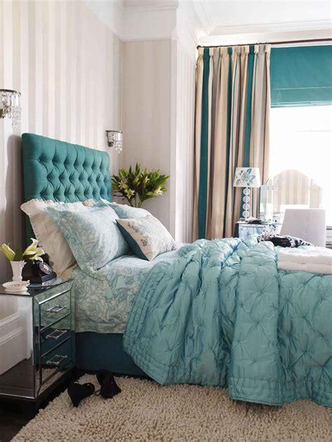 blue curtain bedroom decoration turquoisewhiteblack